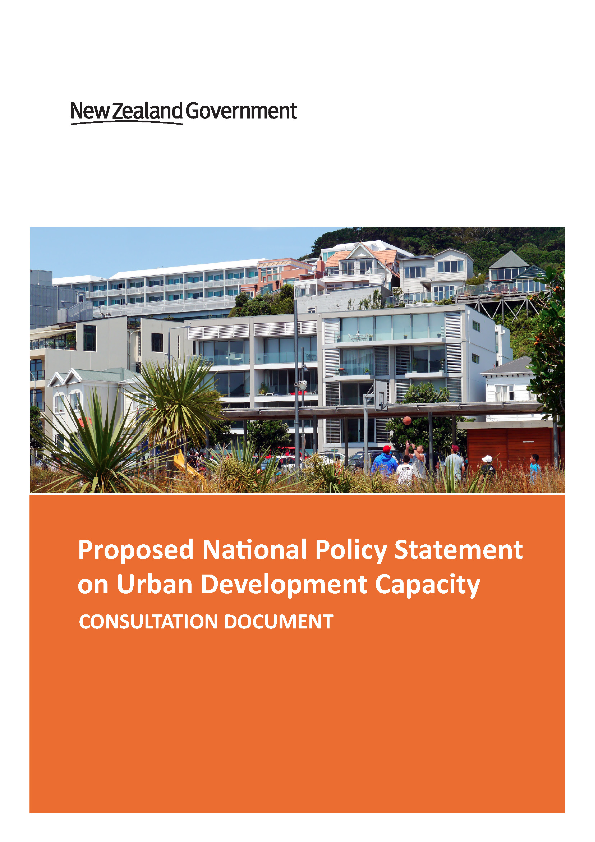 Proposed NPS Urban Development Capacity-consultation-document-final-thumb