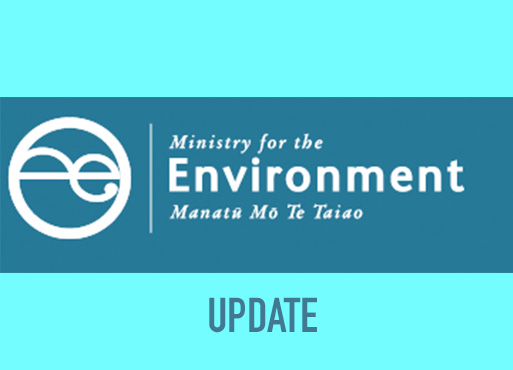 Update from the Ministry for the Environment